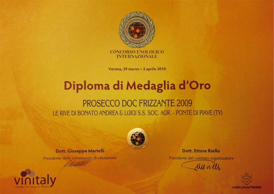 diploma_medaglia_oro_prosecco_frizzante_2009